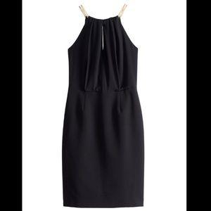 Ashley Graham Beyond Chain Neck Black Halter Dress